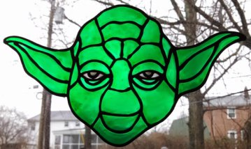 Jedi window cling
